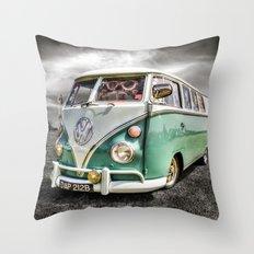 Classic VW camper van  Throw Pillow