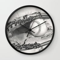 baseball Wall Clocks featuring Baseball by aurelia-art