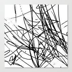 Daisy Scribble Canvas Print