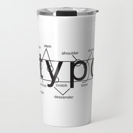 Typo anatomy Minimalist Black Travel Mug