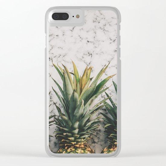 Pineapple marble Clear iPhone Case