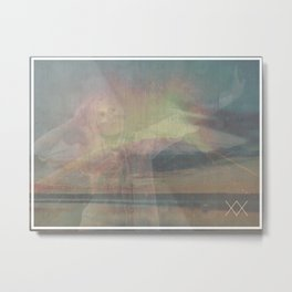 VOLCANOES & COASTLINES Metal Print