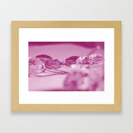 Pink Jewels Framed Art Print