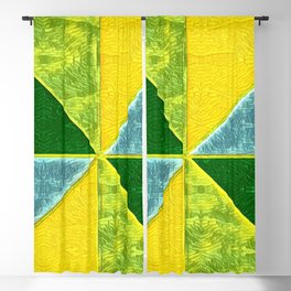 Abs Geometry lemon Blackout Curtain