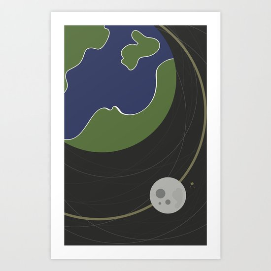 Moon. Art Print