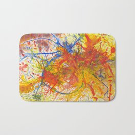 Branches Aflame with Flower Bath Mat