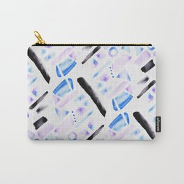 Watercolor Pattern Play in Amethyst Carry-All Pouch