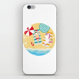 Christmas In July Shirt, Merry Xmas In July Unicorn iPhone Skin