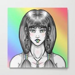Pastel Pocahontas Metal Print