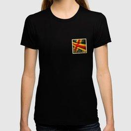 Grunge sticker of Aland Islands flag T-shirt