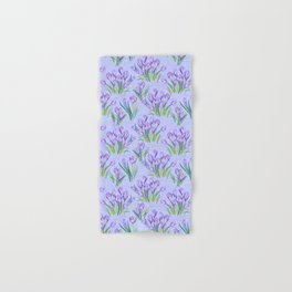 Spring Floral Pattern with Crocuses Hand & Bath Towel