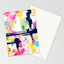 Abstract Colorful Painting Stationery Cards