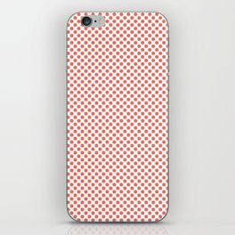 Coral Polka Dots iPhone Skin