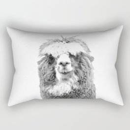 Black and White Alpaca Rectangular Pillow