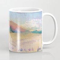 switzerland Mugs featuring Egypt and Switzerland I by Moira Parton