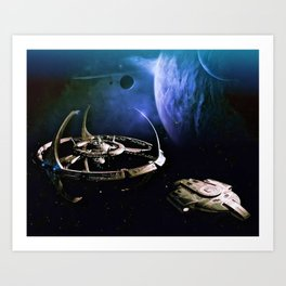 Post Terok Nor Space Station and Ship Art Print
