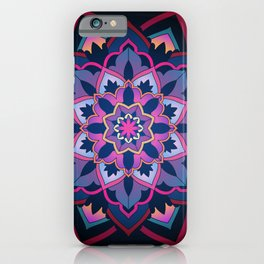 mandala shade of purple iPhone Case