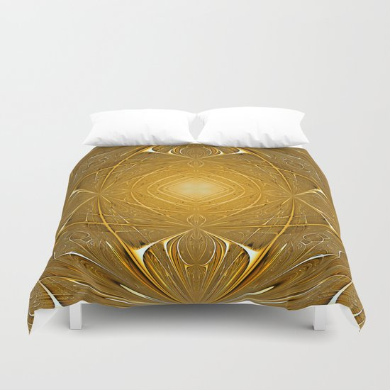 Gold ornament Duvet Cover