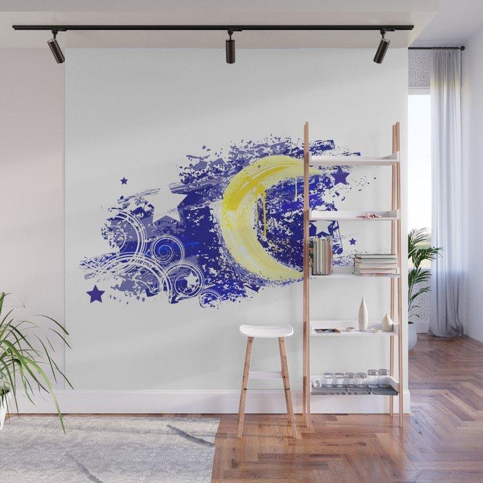 Moon Painted Wall Mural By Blackmoon9 Society6