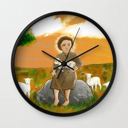 Child Jesus Sheperd - Menino Jesus Pastor Wall Clock