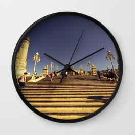 Marseille Station Steps Wall Clock