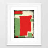 square Framed Art Prints featuring Square by Difilippo
