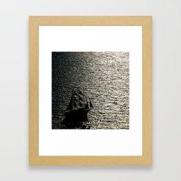 greece ship Framed Art Print