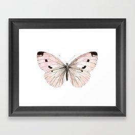 Butterfly flutter - soft peach Framed Art Print
