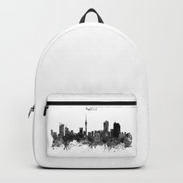 Auckland Black and White Watercolor Skyline Backpack