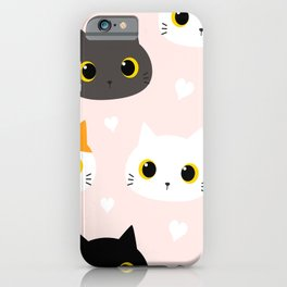 adorable kittens iPhone Case