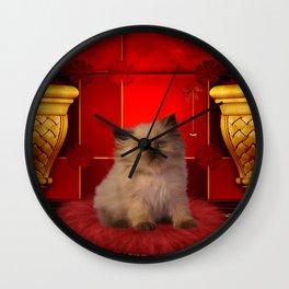 Cute little kitten Wall Clock