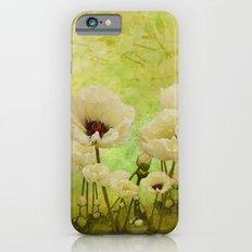 White Poppies Slim Case iPhone 6s