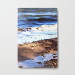 Waves Sand Stones Metal Print