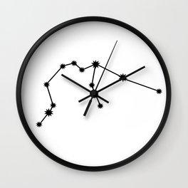 Aquarius Astrology Star Sign Minimal Wall Clock