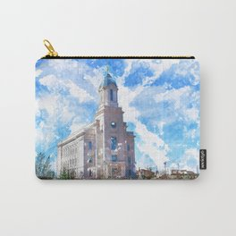 Cedar City LDS Temple Watercolor Carry-All Pouch