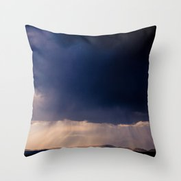 Light at the End of a Storm Throw Pillow