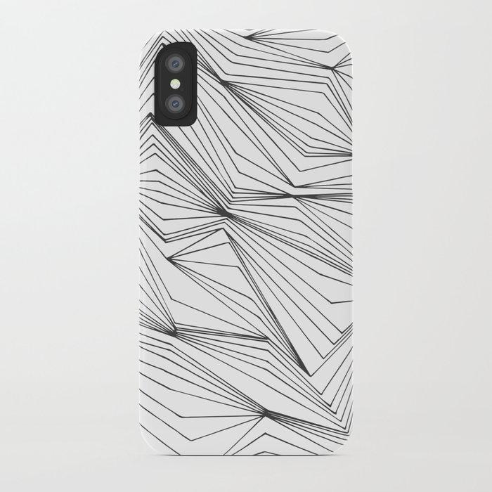 Zig Zag Lines Black iPhone Case