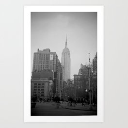 The Empire State Building and Madison Square Park Art Print