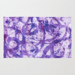 abstract stormy splashy texture (purple) Rug