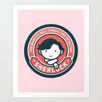 Sherlock - Cute Sherlock Holmes in Red Art Print