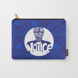 Notice – Blueberry (Lotus Pattern) Carry-All Pouch