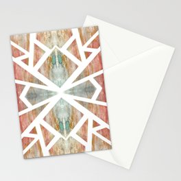 Watercolor Abstract Mosaic Stationery Cards
