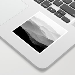 Mountain Mist - Black and White Collection Sticker