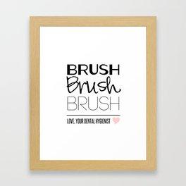 Brush Brush Brush Framed Art Print
