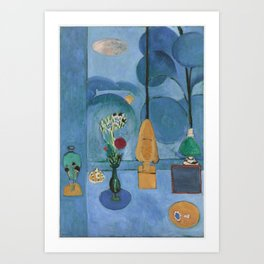 The Blue Window, Issy-les-Moulineaux, 1913 by Henri Matisse, Artwork Design, Poster Tshirt, Tee, Jer Art Print