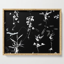 Plants & Paper clips Photogram Serving Tray