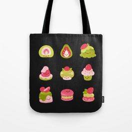 Strawberry Matcha - black Tote Bag