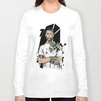 real madrid Long Sleeve T-shirts featuring Football Legends Cristiano Ronaldo Real Madrid Robot by Akyanyme