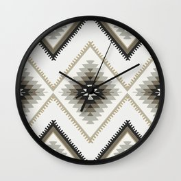 Beige Aztec Wall Clock