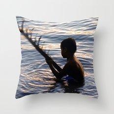 THAILAND - Koh Pangan | Travel | Sea | Children | Nature | Ocean | Dusk | Summer | Photography  Throw Pillow